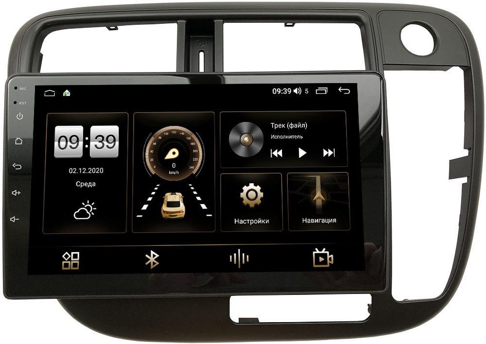 Штатная магнитола Honda Civic 7 (VII) 2000-2005 (без климата) LeTrun 4196-9-226 на Android 10 (6/128, DSP, QLed) С оптическим выходом (правый руль) (+ Камера заднего вида в подарок!)