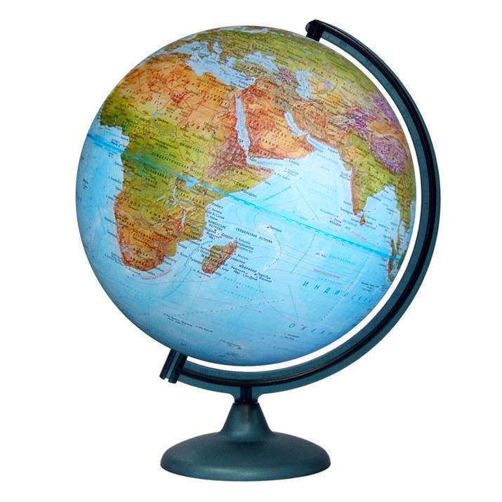 Картинка для Глобус «Двойная карта» диаметром 320 мм, с подсветкой