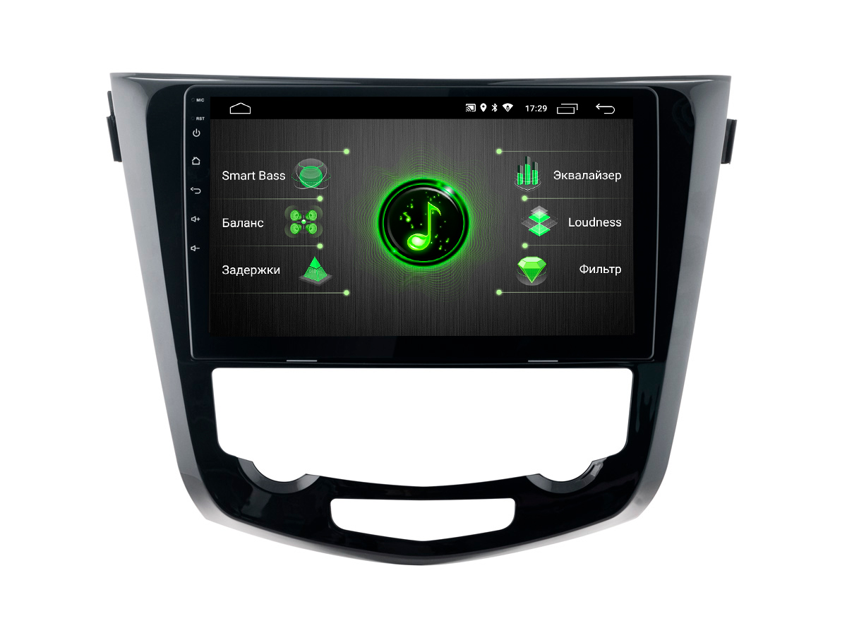 Штатная магнитола Incar DTA-6210 для Nissan X-Trail, Qashqai 15+ Android 9.0 с процессором DSP (+ Камера заднего вида в подарок!)