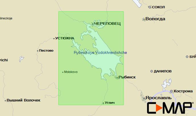 Карта C-MAP RS-N211 - Рыбинское водохранилище карта c map rs n217 озеро байкал и сибирские озера