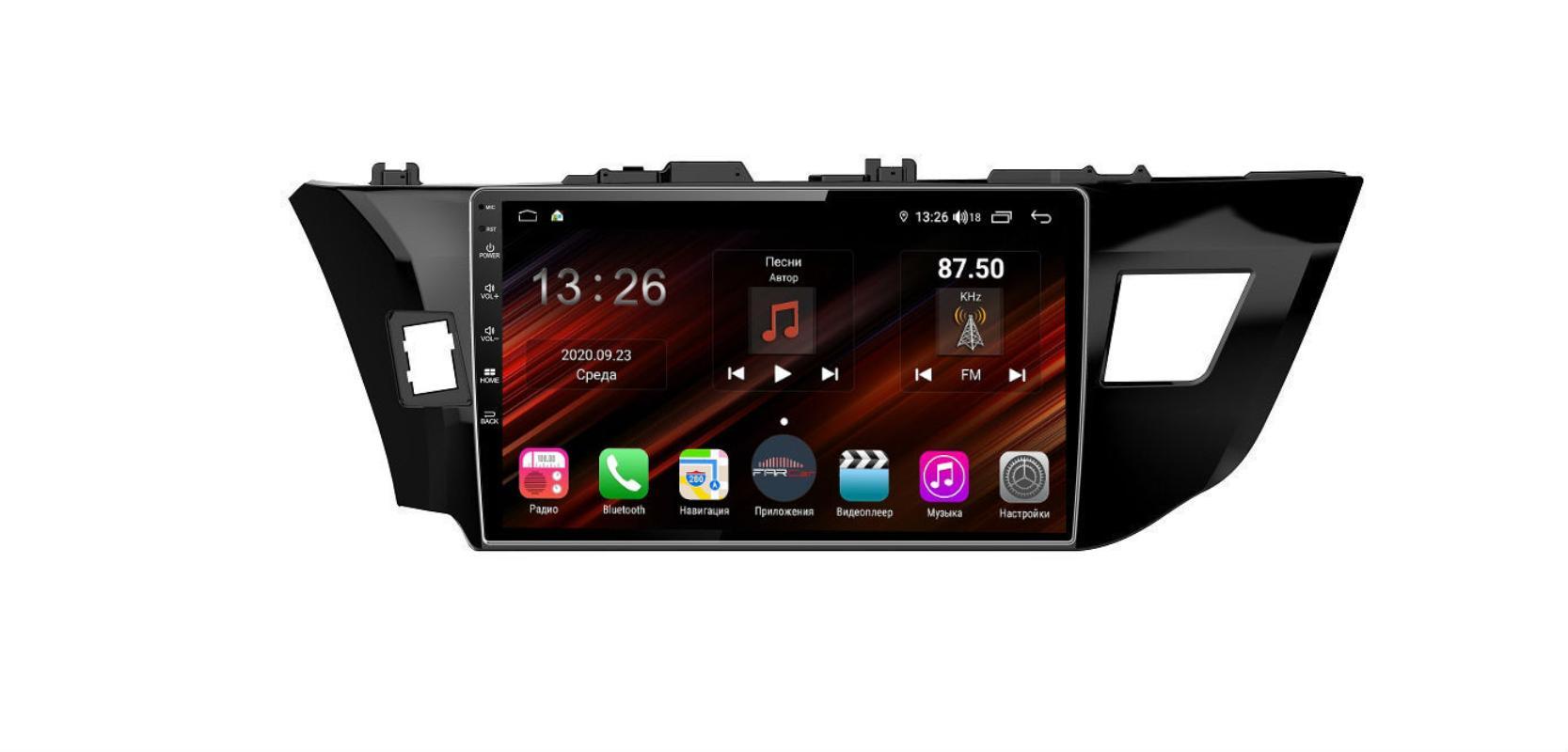 Штатная магнитола FarCar s400 Super HD для Toyota Corolla на Android (XH307R) (+ Камера заднего вида в подарок!)