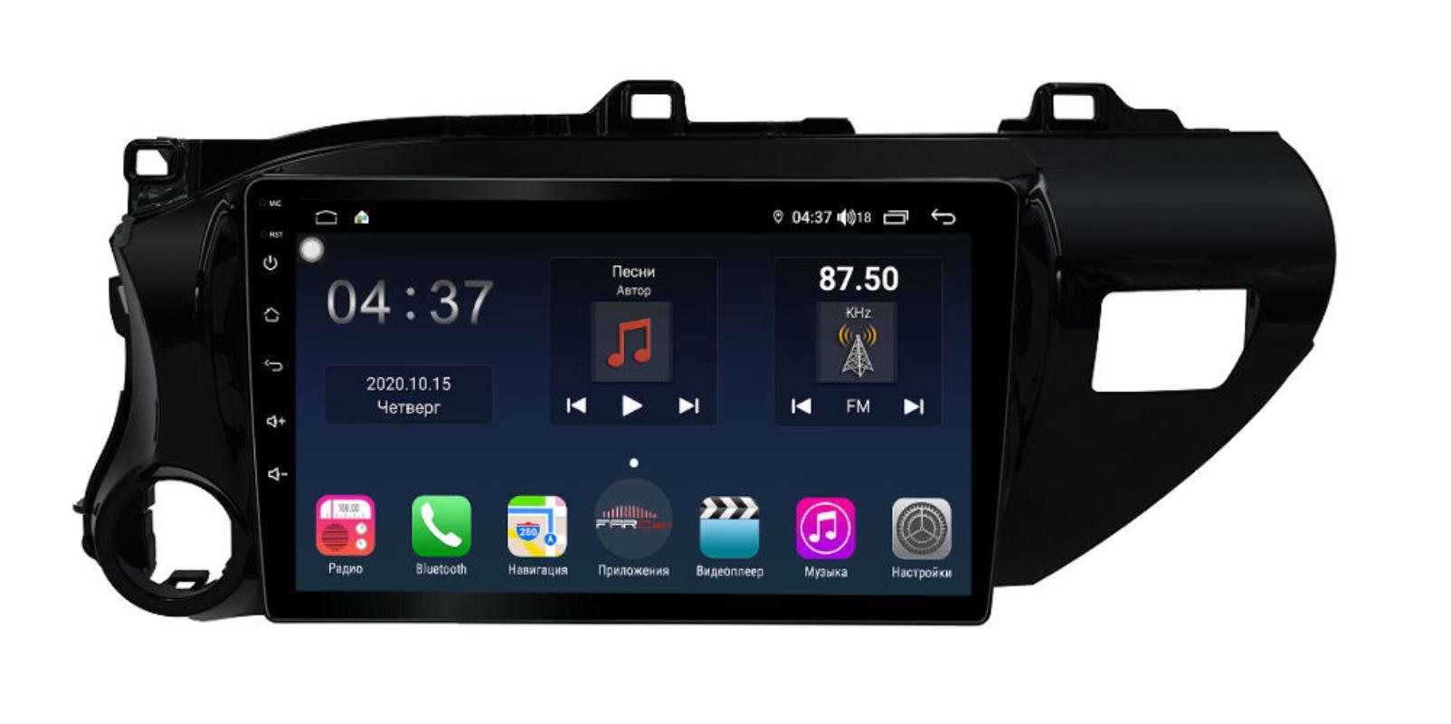 Штатная магнитола FarCar s400 Toyota Hilux на Android (TG1077R) (+ Камера заднего вида в подарок!)