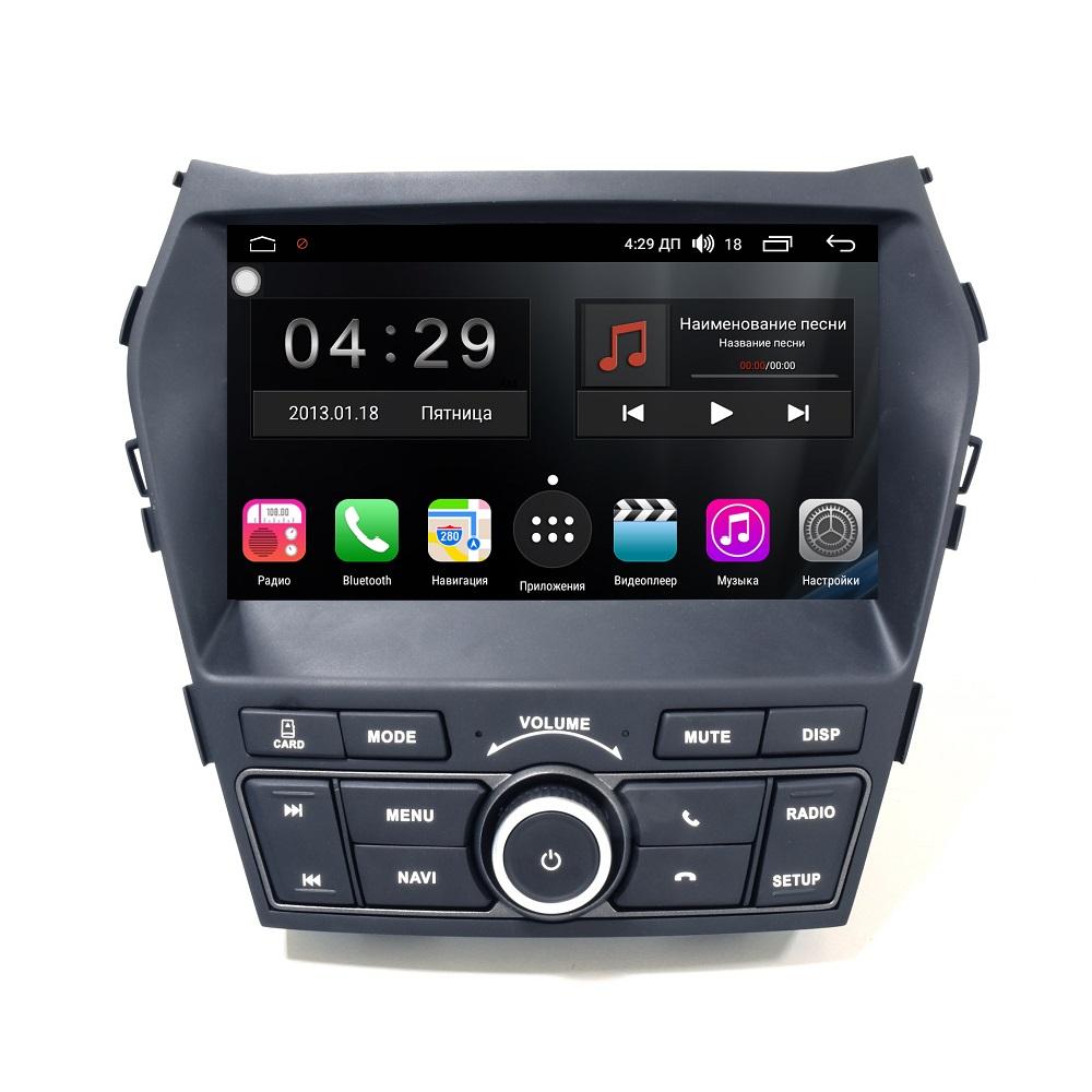 Штатная магнитола FarCar s300-SIM 4G для Hyundai Santa Fe на Android (RG209H) (+ Камера заднего вида в подарок!)