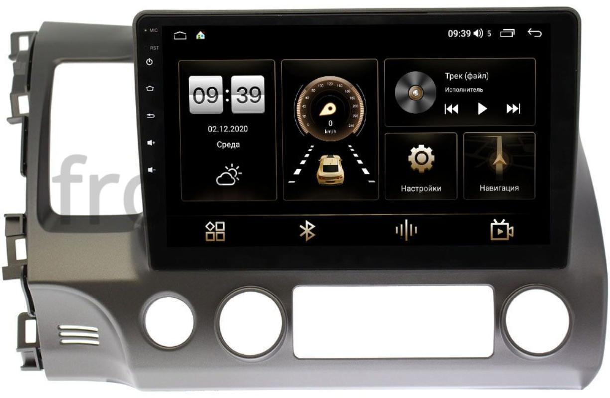 Штатная магнитола Honda Civic 8 (VIII) 4D 2005-2011 LeTrun 4195-1013 на Android 10 (6/128, DSP, QLed) С оптическим выходом (+ Камера заднего вида в подарок!)