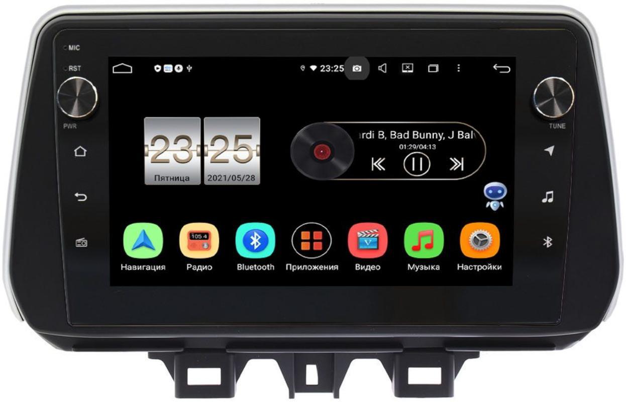 Штатная магнитола LeTrun BPX409-9158 для Hyundai Tucson III 2018-2020 на Android 10 (4/32, DSP, IPS, с голосовым ассистентом, с крутилками) (+ Камера заднего вида в подарок!)