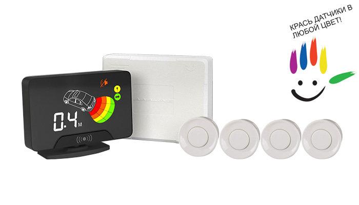 Парктроник модель AAALine LCD-14 White цена