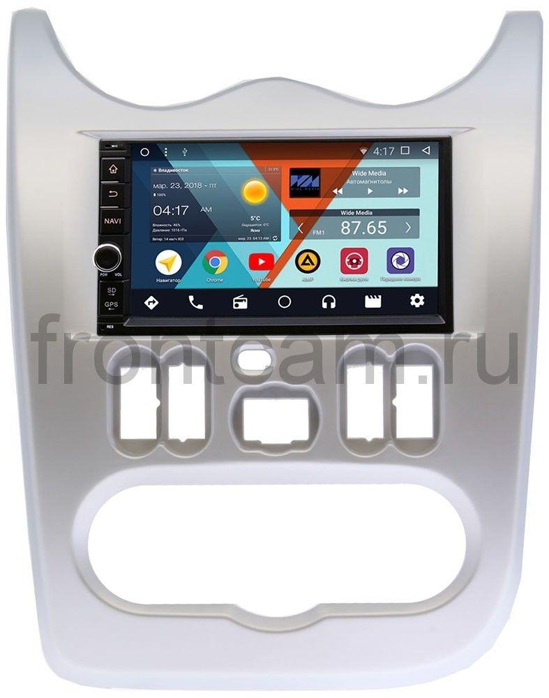 Штатная магнитола Wide Media WM-VS7A706-OC-2/32-RP-RNLG-48 для Renault Logan I, Sandero I 2009-2014 Android 8.0 цена