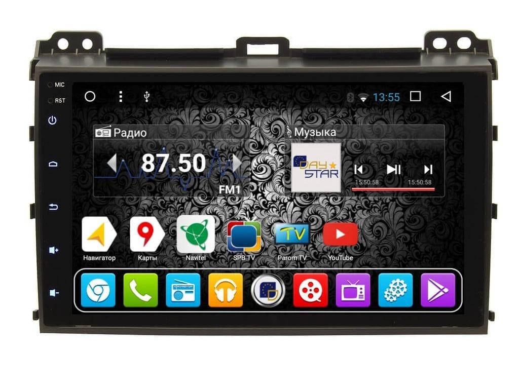 Штатная магнитола DayStar DS-8001HB Toyota Prado 120 2002-2009 ANDROID 8.1.0 (8 ядер, 2Gb ОЗУ, 32Gb памяти) + 3G модем (+ камера заднего вида и 3G модем) штатная магнитола daystar ds 7067hd hyundai elantra 2013 android 8 1 0 8 ядер 2gb озу 32gb памяти