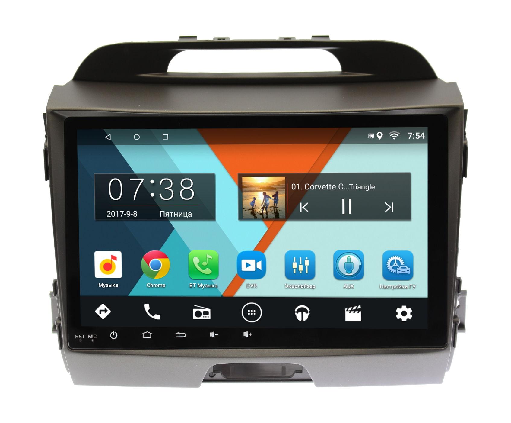 Штатная магнитола Kia Sportage III 2010-2016 для авто с камерой Wide Media MT9072MF-1/16 на Android 6.0.1 штатная магнитола для kia sportage iii 2010 2016 letrun 2020 android 6 0 1