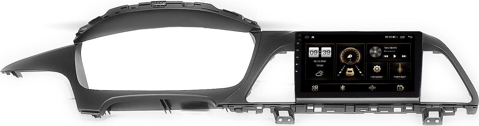 Штатная магнитола Hyundai Sonata VII (LF) 2014-2017 LeTrun 3792-9040 для авто без усилителя на Android 10 (4/64, DSP, QLed) С оптическим выходом (+ Камера заднего вида в подарок!)