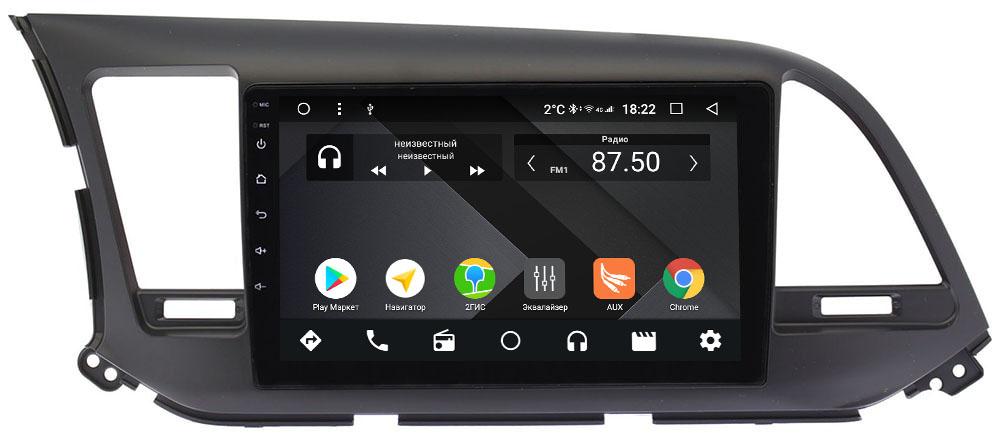 Штатная магнитола Hyundai Elantra VI (AD) 2016-2019 Wide Media CF9025-OM-4/64 для авто без камеры на Android 9.1 (TS9, DSP, 4G SIM, 4/64GB) (+ Камера заднего вида в подарок!)