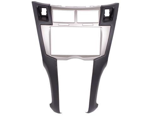 Переходная рамка Intro RTY-N30 для Toyota Yaris, Vitz, Platz 06-12 2DIN Silver переходная рамка intro rty n18 для toyota auris до 2012 2din