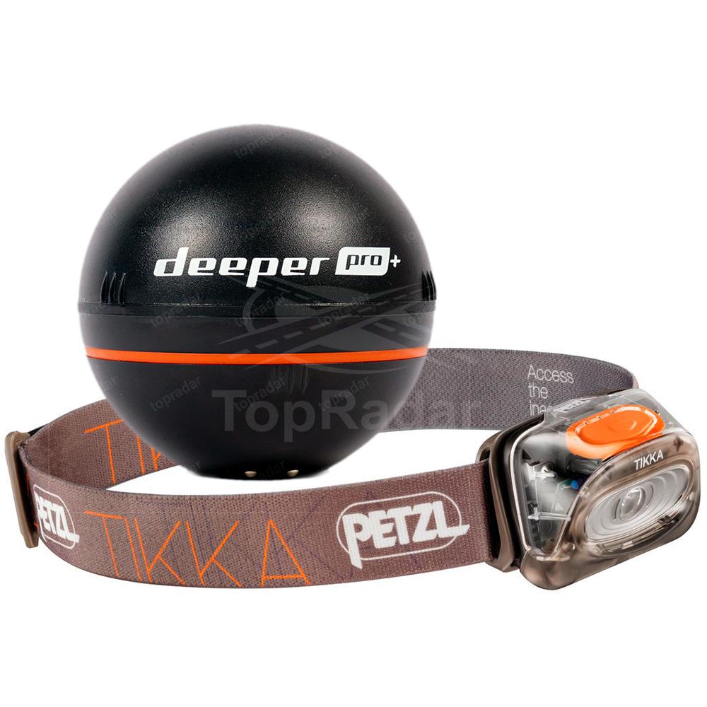 Deeper Smart Sonar Pro+ с фонарем Petzl Tikka