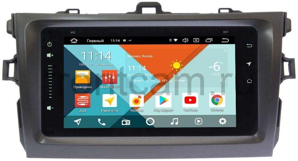 Штатная магнитола Toyota Corolla X 2006-2013 Wide Media MT6901PK-2/16-RP-TYCV14XW-05 на Android 9.1 (DSP 3G-SIM) (+ Камера заднего вида в подарок!)