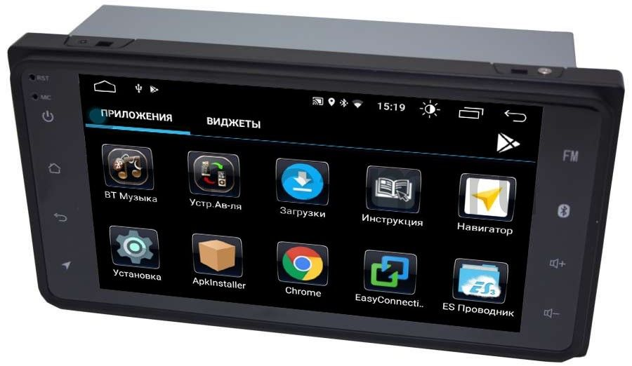 Штатная магнитола Toyota Универсальная (короткая) 200*100 LeTrun 2434 на Android 6.0.1 (+ Камера заднего вида в подарок!)