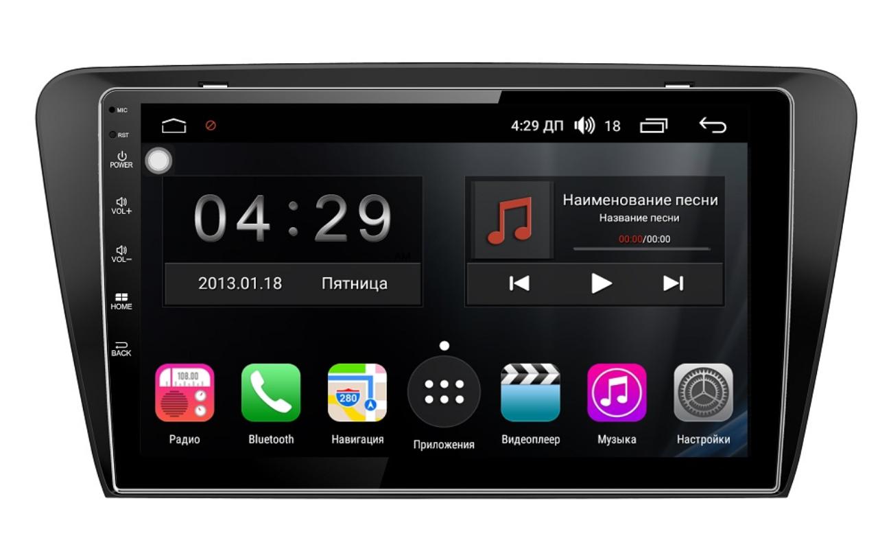 цена на Штатная магнитола FarCar s300-SIM 4G для Skoda Octavia III (A7) 2013+ на Android (RG483R) (+ Камера заднего вида в подарок!)