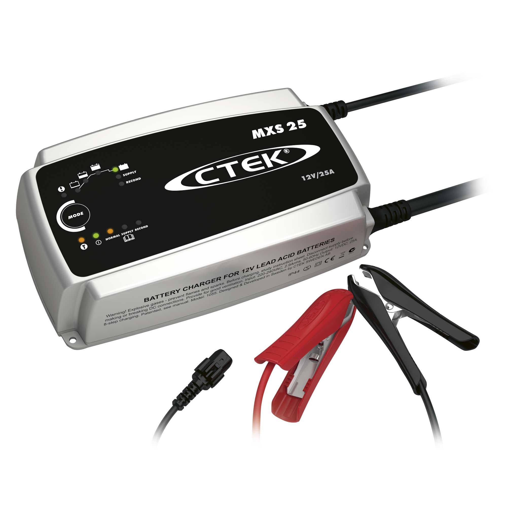 Зарядное устройство Ctek MXS 25 (8 этапов, 50-500Aч, 12В) индикатор состояния акб с круглыми клеммами м6 ctek 56 629