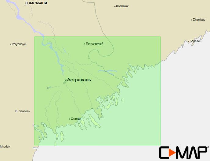 Карта C-MAP MAX-N RS-N218 (ВОЛГА. ДЕЛЬТА)
