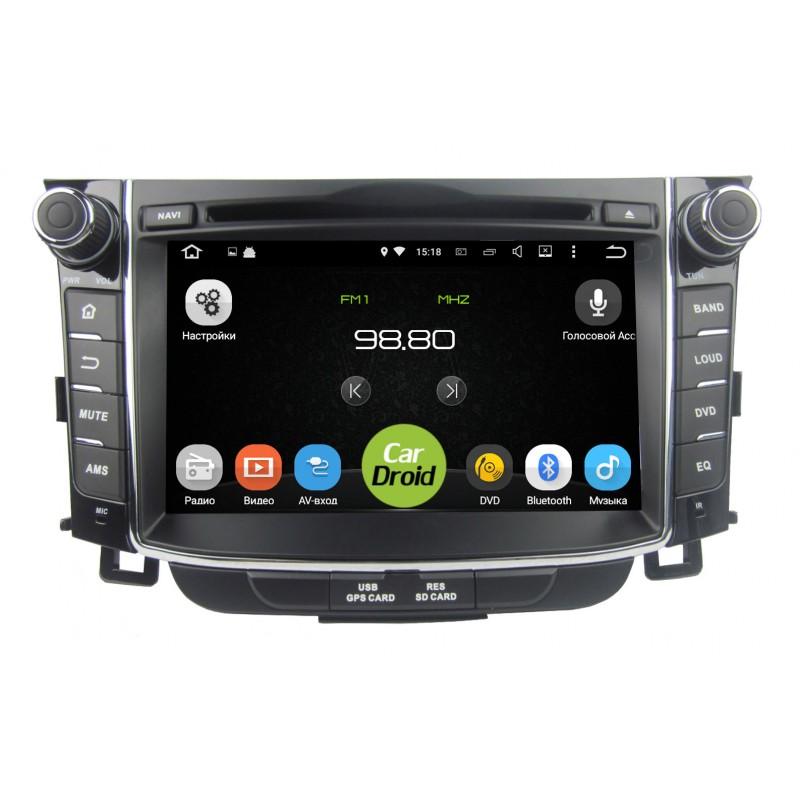 Штатная магнитола Roximo CarDroid RD-2004 для Hyundai i30 2, 2012, GD (Android 8.0) (+ Камера заднего вида в подарок!)