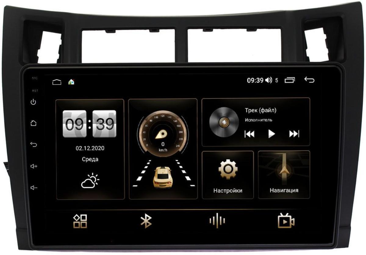 Штатная магнитола Toyota Yaris II (XP90) 2005-2010, Vitz II (XP90) 2005-2010 (черная) LeTrun 4196-9122 на Android 10 (6/128, DSP, QLed) С оптическим выходом (+ Камера заднего вида в подарок!)