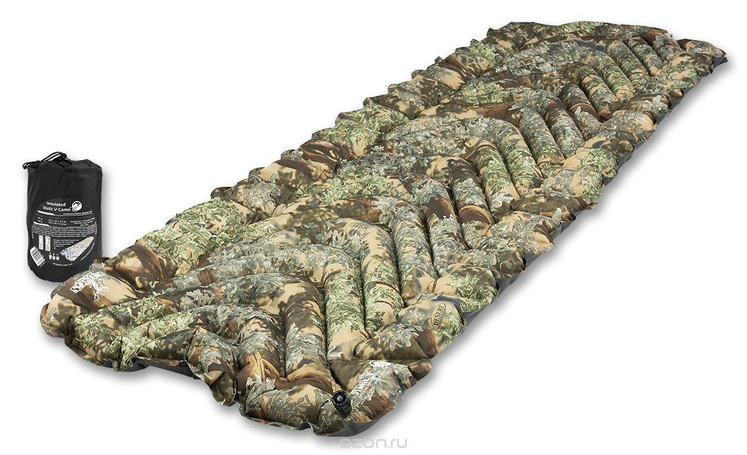 Надувной коврик Klymit Insulated Static V Realtree Camo, камуфляж (06IVXT01C) чехол для туристического коврика klymit quilted v sheet