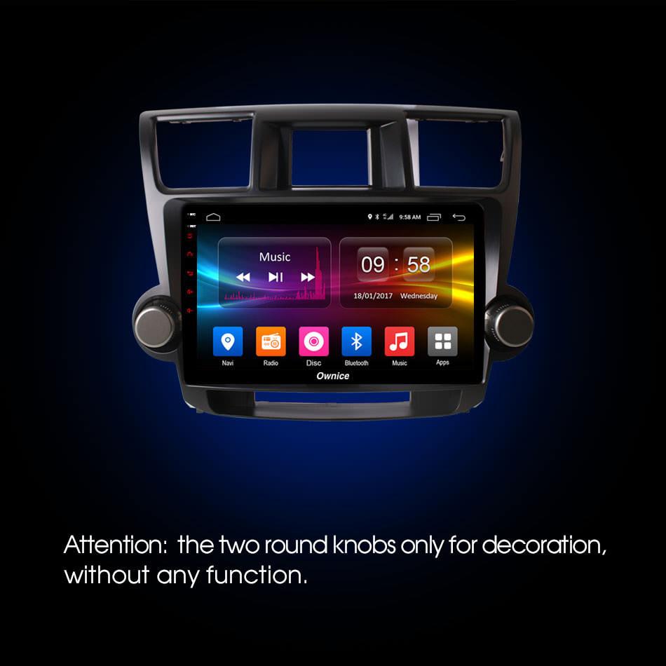 Штатная магнитола CARMEDIA OL-1616 DVD Toyota Highlander 2007-2013 U40 штатная магнитола carmedia ol 9908 dvd volkswagen tiguan 2007 2016 до и после рестайлинга golf plus матовый темный по умолчанию можно заменить на серебро