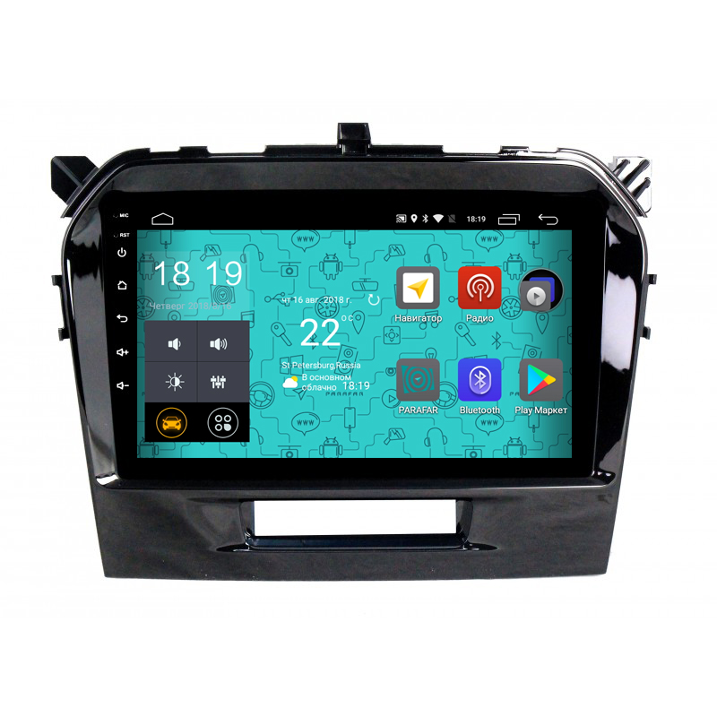 Штатная магнитола Parafar 4G/LTE с IPS матрицей для Suzuki Vitara 2015+ на Android 7.1.1 (PF996) (+ Камера заднего вида в подарок!)
