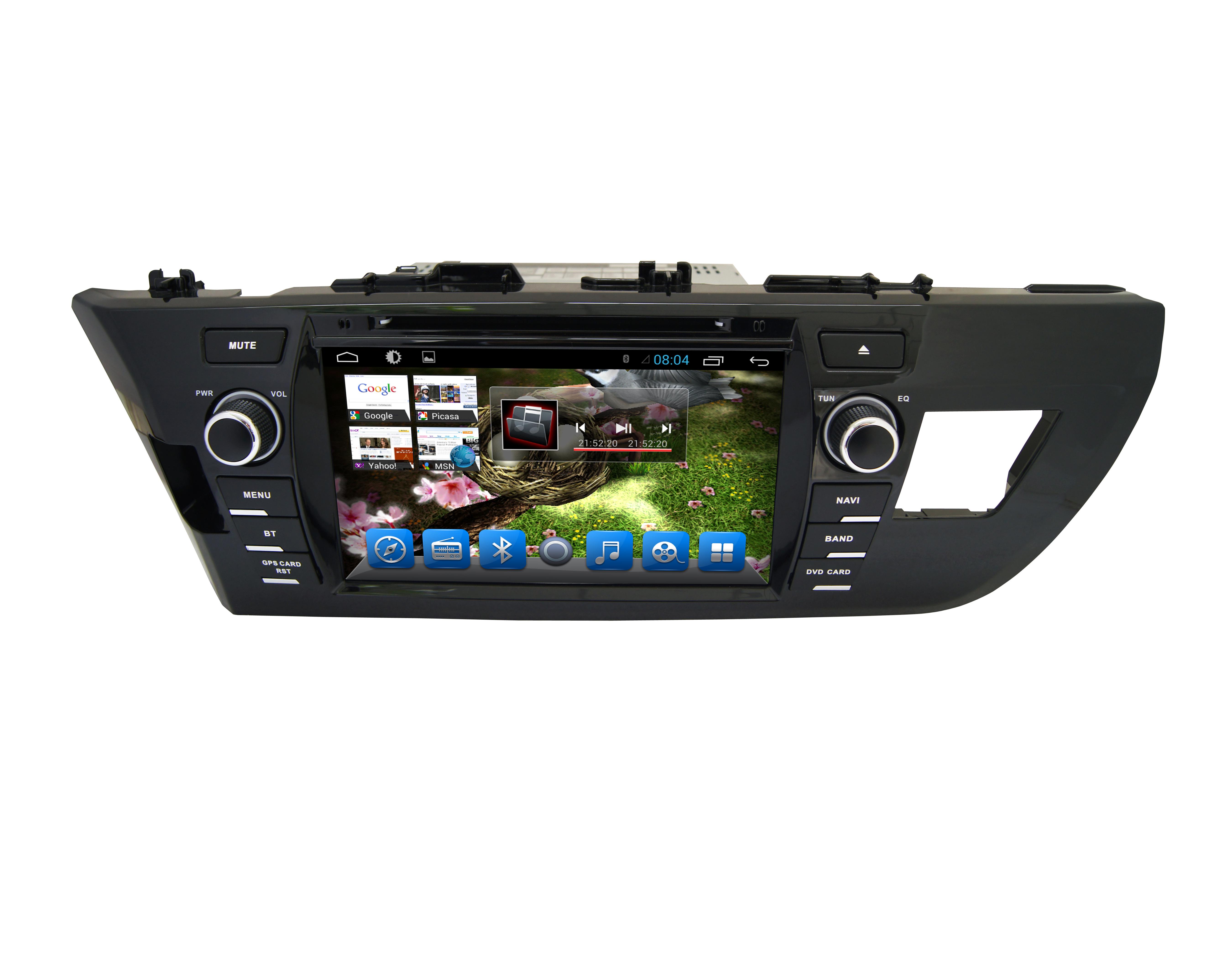Штатная магнитола CARMEDIA QR-8090-T8 Toyota Corolla E180/E170 2013-2015 вместо штатной рамки на OC Android 7.1.2 / 8.1 штатная магнитола carmedia kdo 9406 dvd toyota corolla e180 2016