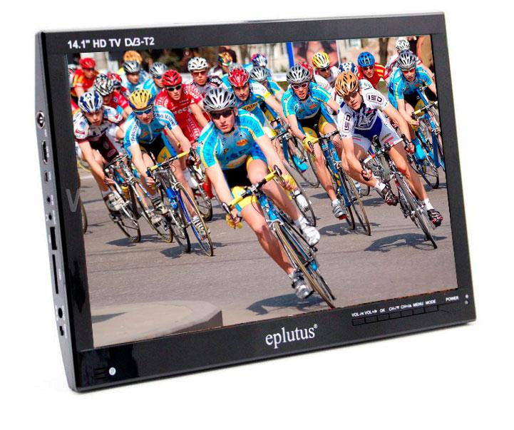 Автомобильный телевизор Eplutus EP-143T (+ Разветвитель в подарок!) автомобильный телевизор eplutus ep 900t