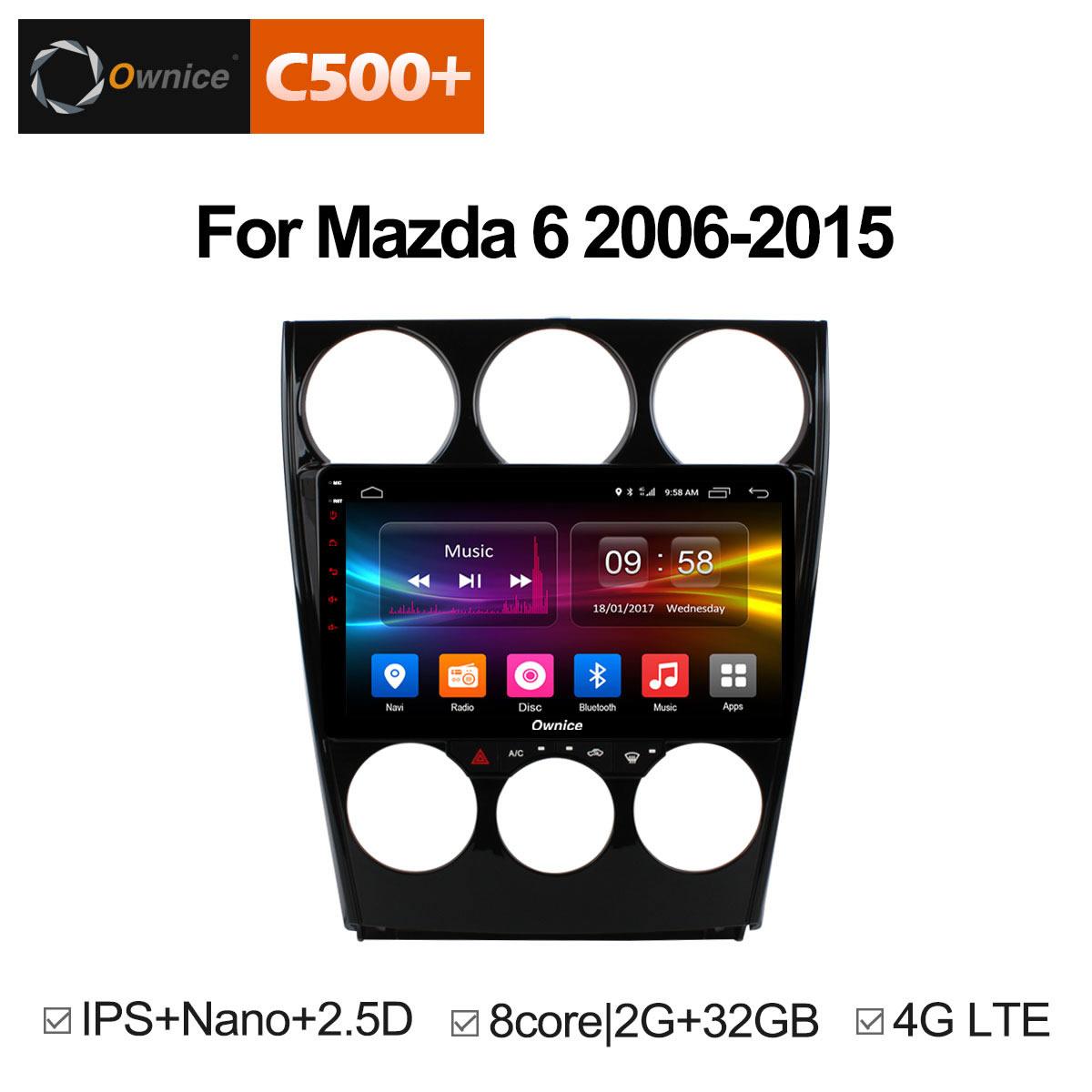 Штатная магнитола CARMEDIA OL-9505-8 (C500+) MAZDA 6 2005-2008 android 6 0 quad core mini m8s ii tv box set top box amlogic s905x wifi bluetooth 4 0 2gb ram 8gb rom smart media player 4kx2k