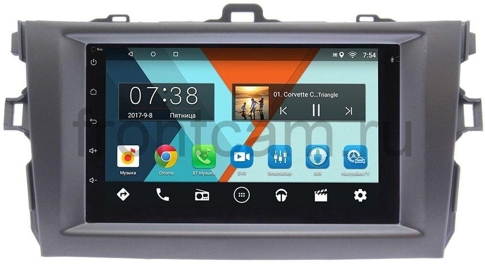 Штатная магнитола Toyota Corolla X 2006-2013 (темно-серая) Wide Media MT7001-RP-TYCV14Xc-11 на Android 6.0.1