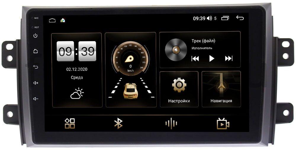 Штатная магнитола Suzuki SX4 I 2006-2014 LeTrun 3792-9035 на Android 10 (4/64, DSP, QLed) С оптическим выходом (+ Камера заднего вида в подарок!)