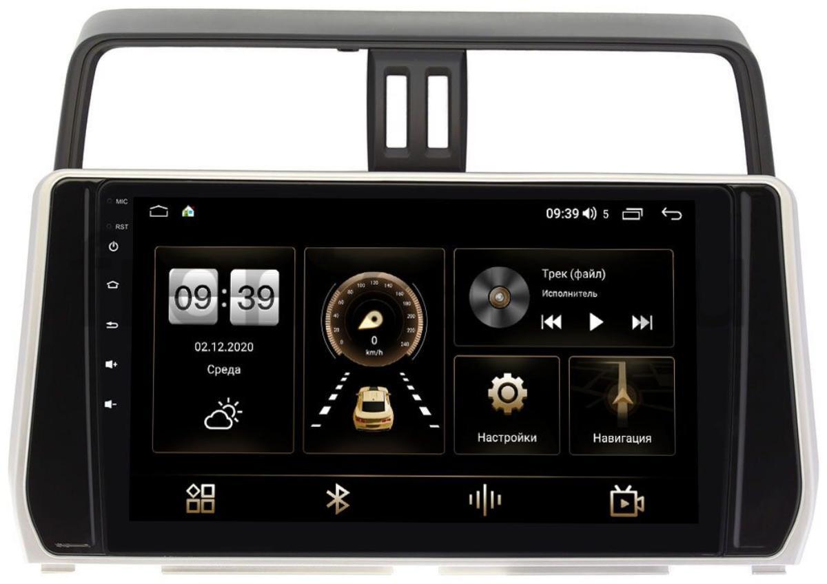 Штатная магнитола Toyota Land Cruiser Prado 150 2017-2021 LeTrun 4165-1058 на Android 10 (4G-SIM, 3/32, DSP, QLed) (для авто с 4 камерами) (+ Камера заднего вида в подарок!)