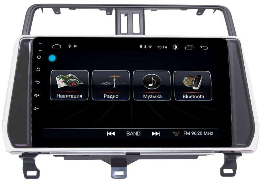 Штатная магнитола LeTrun 2444 для Toyota Land Cruiser Prado 150 2017-2019 на Android 8.0.1 MTK-L 1Gb
