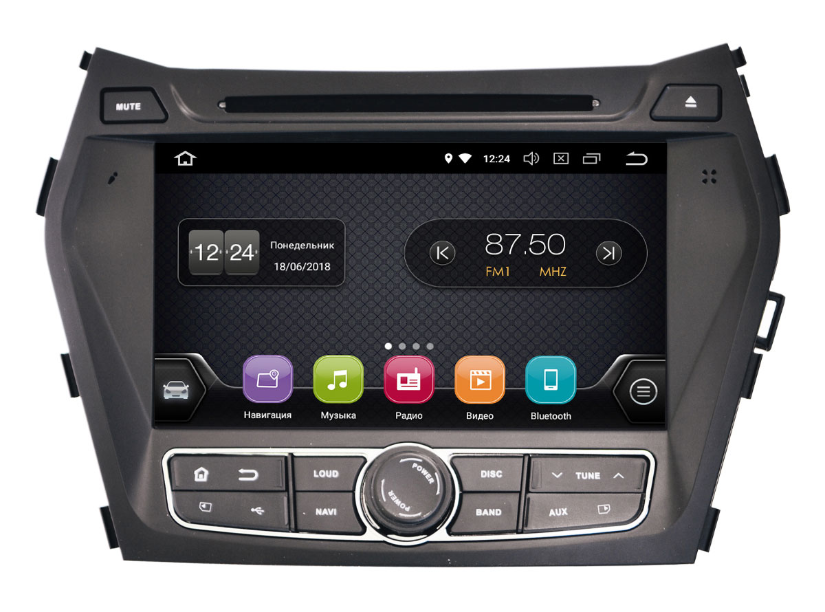 Штатная магнитола InCar TSA-2436 для Hyundai Santa Fe 2013+ (Android 8.0) (+ Камера заднего вида в подарок!)