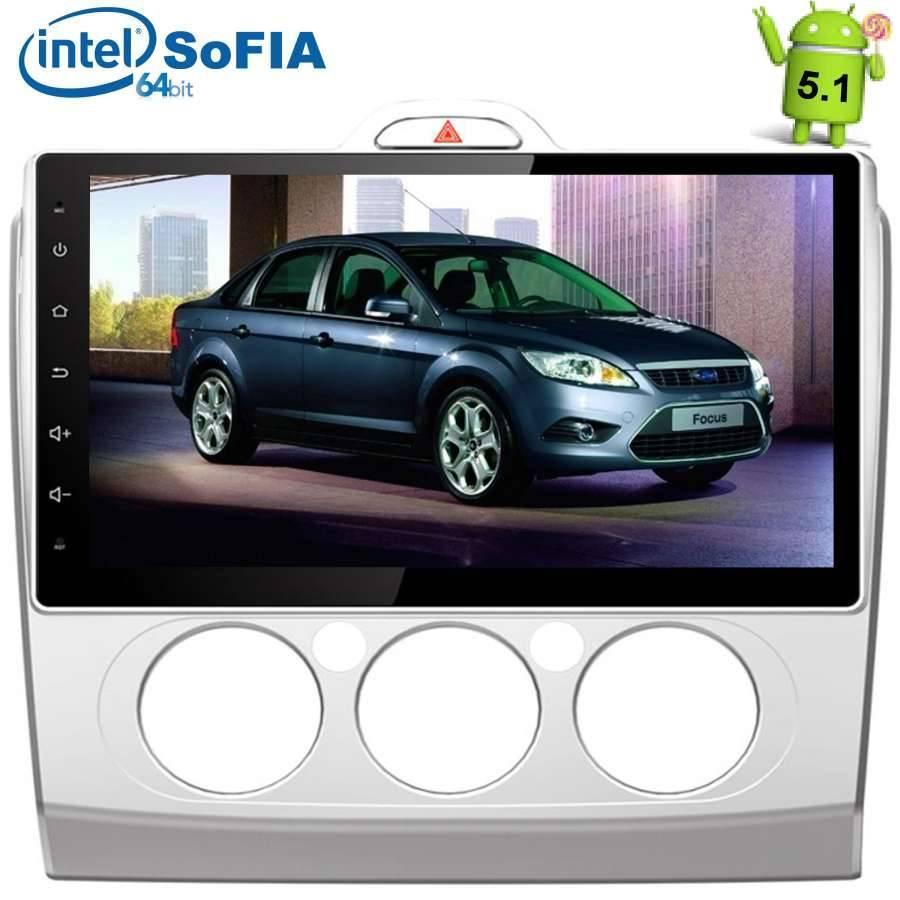 Штатная автомагнитола Ford Focus II 2005-2011 (без климата) LeTrun 1680 на Android 5.1.1 Intel SoFIA