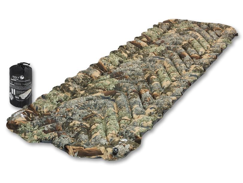 Надувной коврик Klymit Static V-Camo, камуфляж (06SVKd01C) чехол для туристического коврика klymit quilted v sheet