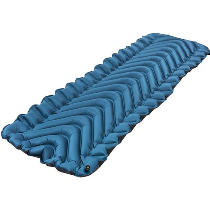 Надувной туристический коврик Klymit Armored V, серо-голубой