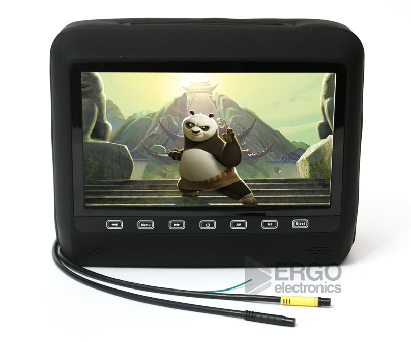 Подголовник со встроенным DVD плеером и LCD монитором 9 ERGO ER9HD (Черный) 9 inch car headrest mount dvd player digital multimedia player hdmi 800 x 480 lcd screen audio video usb speaker remote control