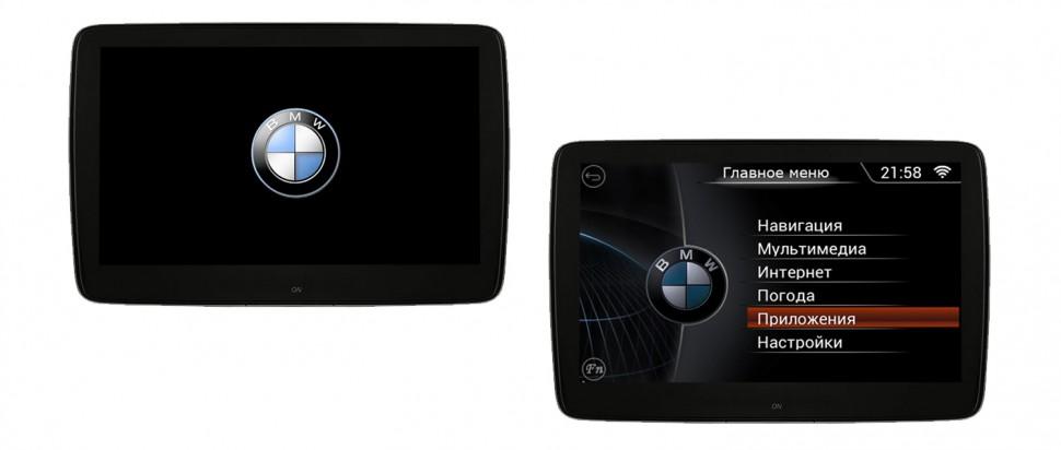 Комплект навесных мониторов для BMW (5/7/X5) ERGO ER11BA (Android 6.0) (+ Беспроводные наушники в подарок!)