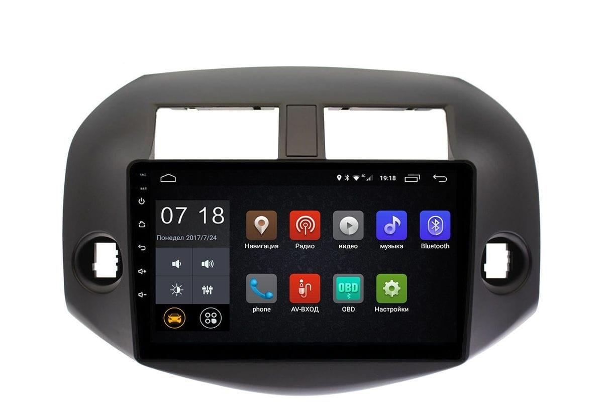 Штатная магнитола Toyota RAV4 (XA30) 2006-2013 LeTrun 2441 Android 6.0.1 10 дюймов (4G LTE 2GB) (+ Камера заднего вида в подарок!)