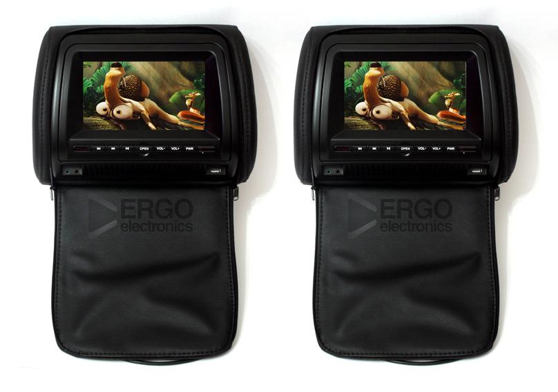 Фото - Автомобильный монитор Ergo ER700H (+ Двухканальные наушники в подарок!) матрас diamond rush cocos ergo 40sm 160x200x43 см