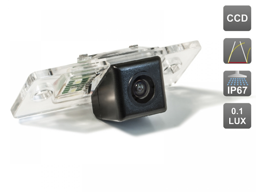 CCD штатная камера заднего вида с динамической разметкой AVIS Electronics AVS326CPR (#105) для PORSCHE CAYENNE I (2002-2010)/ VOLKSWAGEN TOUAREG I (2002-2010) / TIGUAN I (2007-2016) штатная магнитола carmedia mkd 8222 p5 8 porsche cayenne 2002 2010