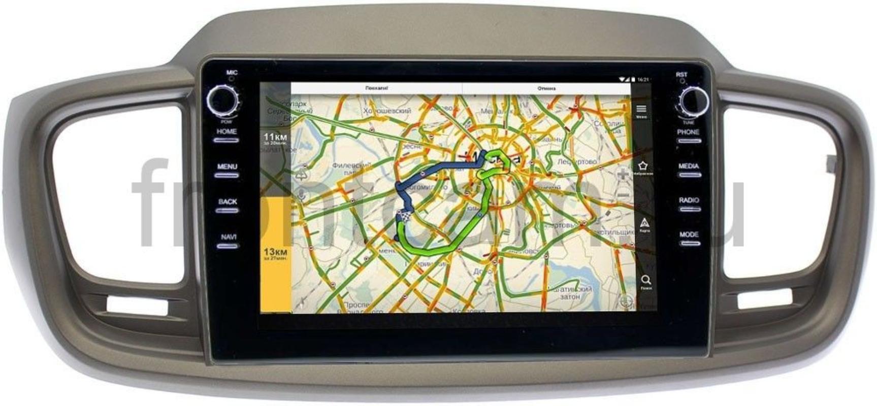 Штатная магнитола LeTrun 3149-10-1125 для Kia Sorento III Prime 2015-2020 на Android 10 (DSP 2/16 с крутилками) (+ Камера заднего вида в подарок!)