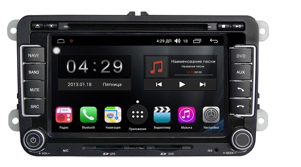 Штатная магнитола FarCar s200+ для Volkswagen, Skoda на Android 8.0.1 (A305) (+ Камера заднего вида в подарок!) штатная магнитола farcar s170 для volkswagen skoda на android l016