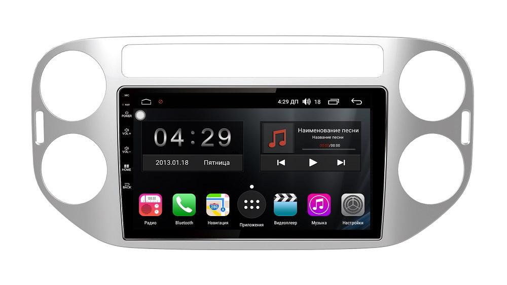 Штатная магнитола FarCar s300-SIM 4G для Volkswagen Tiguan 2011-2017 на Android (RG489R) (+ Камера заднего вида в подарок!) штатная магнитола farcar s300 sim 4g для volkswagen tiguan 2011 2017 на android rg489r камера заднего вида в подарок