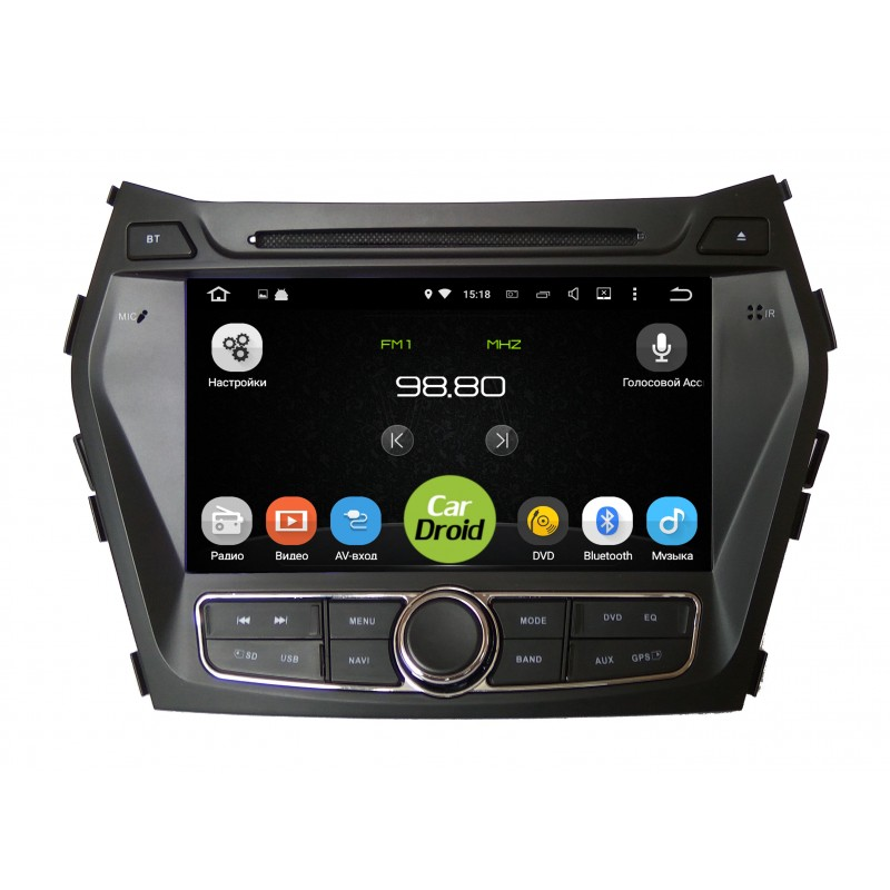 Штатная магнитола Roximo CarDroid RD-2009 для Hyundai SantaFe 3 (Android 8.0) (+ камера заднего вида) штатная магнитола roximo cardroid rd 2301 для kia sorento 2 2013 android 8 0