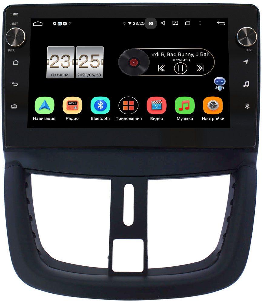 Штатная магнитола LeTrun BPX609-9203 для Peugeot 207 I 2006-2015 на Android 10 (4/64, DSP, IPS, с голосовым ассистентом, с крутилками) (+ Камера заднего вида в подарок!)