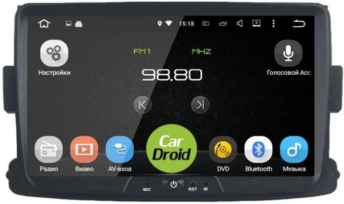 Штатная магнитола Roximo CarDroid RD-3002D для Renault Duster, Sandero, Logan 2 (Android 8.0) DSP (+ Камера заднего вида в подарок!)