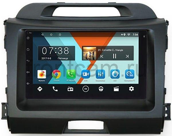 Штатная магнитола Kia Sportage III 2010-2016 Wide Media MT7001-RP-KISGB-52 на Android 6.0.1 штатная магнитола для kia sportage ii 2004 2010 wide media mt9049mf android 6 0 1